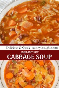 instant pot cabbage soup recipe Pinterest Pin