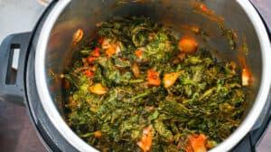 Jute leaves in instant pot
