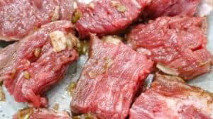 marinated steak bites