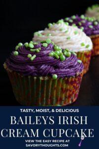Baileys Irish Cream Cupcake Pinterest Pin