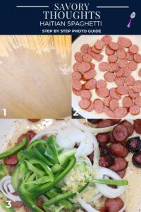 Haitian Spaghetti steps 1-3