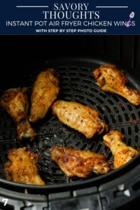 Instant Pot Air Fryer Chicken Wings Pinterest Pin