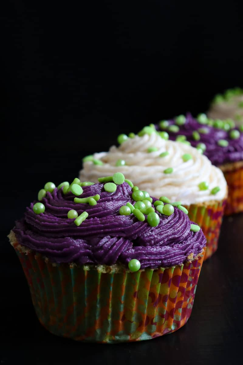 cupcakes on black board