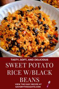Sweet Potato Rice Recipe Pinterest Pin