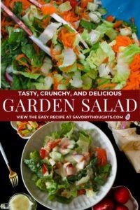 Garden Salad Pinterst Pin