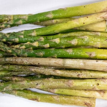 horizontal view of asparagus