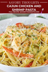 Cajun Chicken And Shrimp Pasta Recipe Pinterest Pin