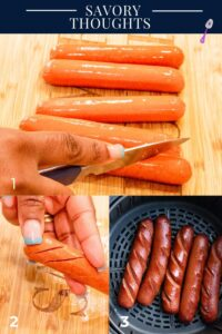 Beef franks Step by step by step guide