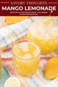 Mango Lemonade Pinterest Pin