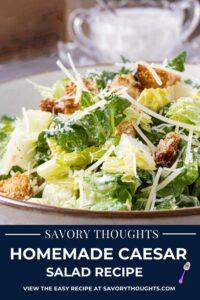 Homemade Caesar Salad Recipe Pinterest Pin