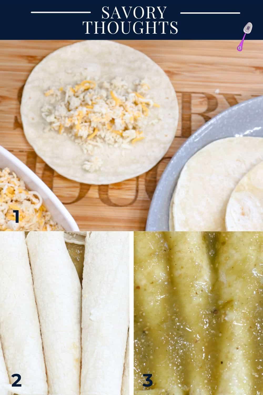 3 step by step guide to make enchiladas