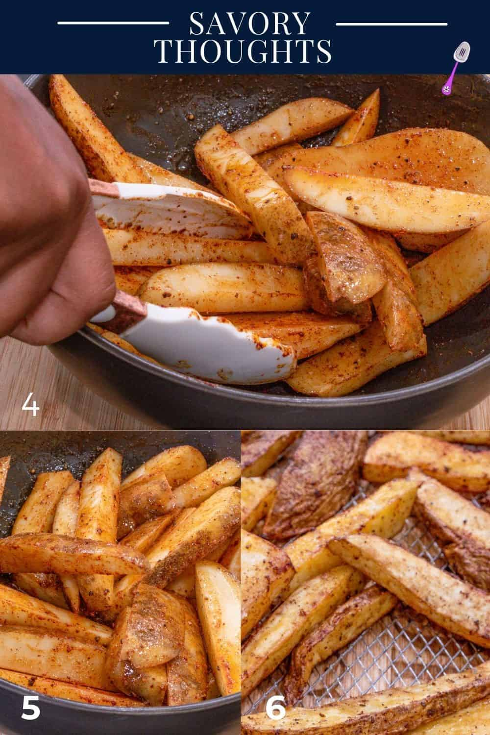 step by step guide to make wedges