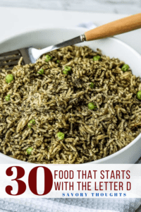 food that starts with D Pinterest Pin