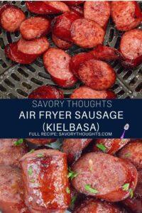 Air fryer sausage recipe pinterest Pin