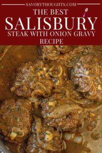 Salisbury Steak Recipe Pinterest Pin