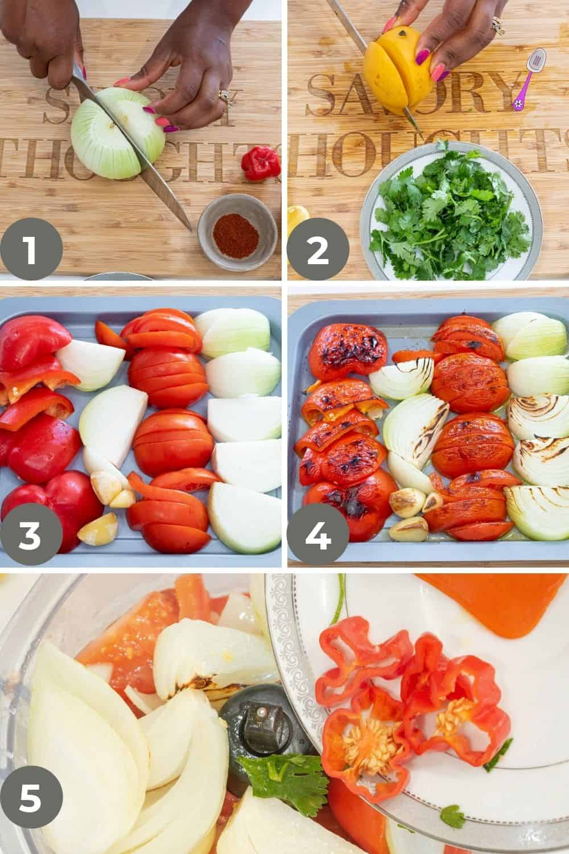 Habanero Mango Salsa Step by step guide 1
