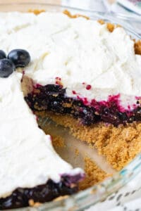 No Bake Blueberry Pie cutout - Savory Thoughts