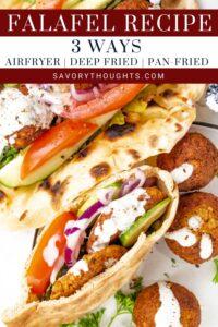 Falafel Recipe Pinterest Pin
