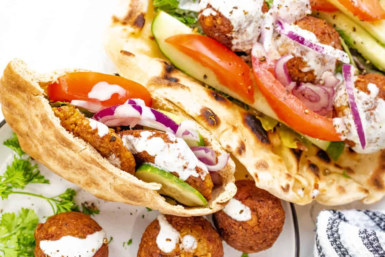 falafel prepared 3 ways