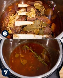 steps 6-7 to make short ribs in instant pot